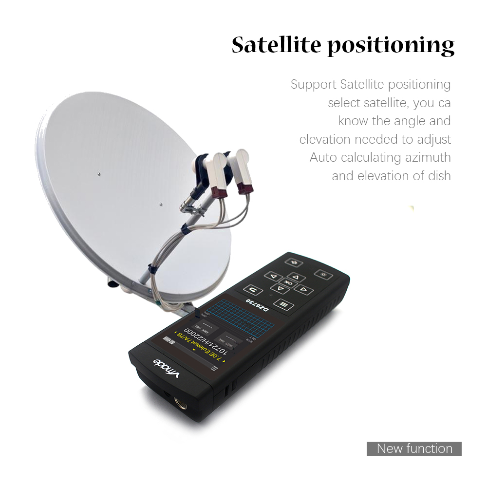 Image 3 - Vmade 3.0 Screen DVB S2 / DVB S Full HD FTA Band Sat Satellite Finder DZ6370 Detector Support Software upgrade MPEG4/2-in Satellite TV Receiver from Consumer Electronics