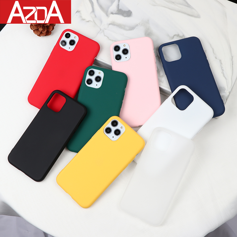 NEW Color Silicone <font><b>Cases</b></font> <font><b>For</b></font> <font><b>iPhone</b></font> 11 Pro <font><b>Max</b></font> XR <font><b>X</b></font> <font><b>XS</b></font> <font><b>Max</b></font> 6 6S 7 8 Plus 5 5S SE Phone <font><b>Case</b></font> Cute Candy Color Soft Simple Fashion image