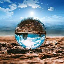 Zk30 dropshipping bola de cristal grande bola de cristal transparente sorte arco-íris foto bola de cristal