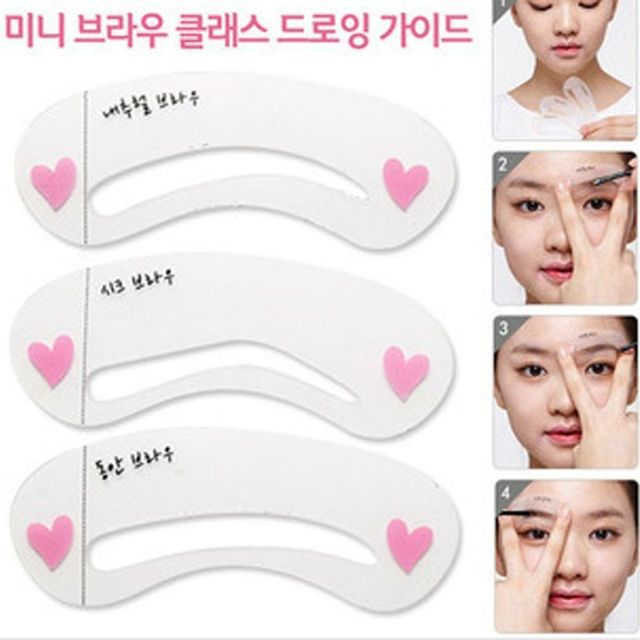 24 Styles Eyebrow Shaping Stencils Grooming Kit Makeup Shaper Set Template Tool  Drop Shipping