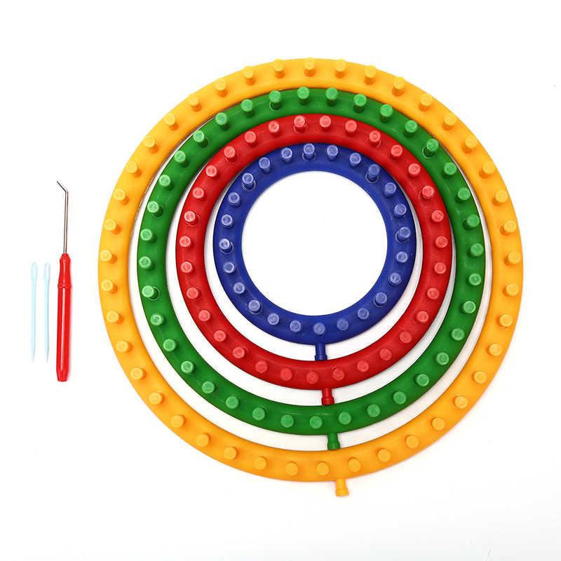 1 Bộ Nhựa Đan Vòng Khung Dệt Sợi Kim Knitter Bộ Sock Cho Khăn Mũ Áo Len Tự Làm Bằng Tay Dệt Đan Thủ Công dụng Cụ