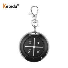 Kebidu cópia de código 433mhz, controle remoto, 4 botões, mini transmissor sem fio, chave fob para carro, porta de garagem, 433.92 mhz controlador rf, controlador rf