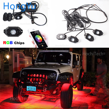RGB LED Rock Lights Bluetooth Control Multicolor Neon LED Light Kit  For Ford Tourneo Custom LED Vehicle Undercar light
