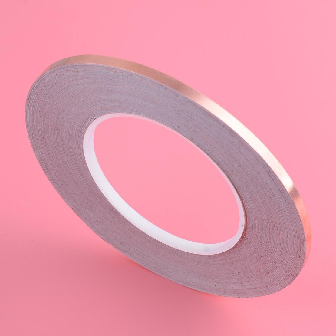 50M 5mm Single Side Conductive Copper Foil Tape Adhesive Shield Heat Resist Computer Peripheral Wire