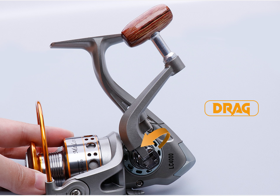 TREHOOK Super Strong 5.21 Baitcasting Reel Metal Spinning Reel Winter Fishing Accessories Sea Fishing Reels With Wooden Knob 015
