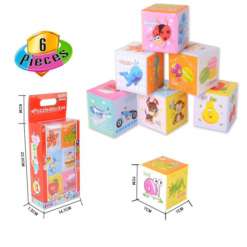 Baby Cloth Building Cube Blocks Set New Infant Cloth Doll Soft Plush Rattle Grasp Toy for Newborn Early Learning Education Gift