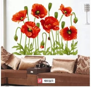 Female Flower Wall Sticker Xy8001 Yu Meiren Wall Sticker Three Generations Removable Pvc Transparent Film Wallpaper