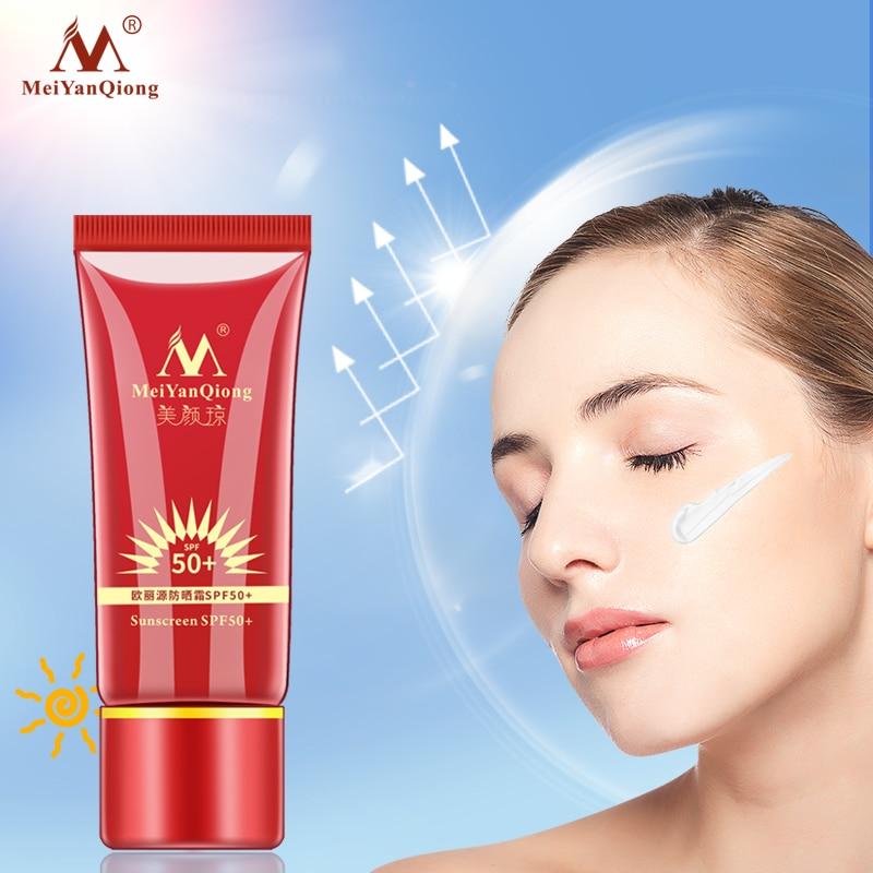 MeiYanQiong-protector solar SPF50 +, reparación blanqueadora, bloqueador solar, crema protectora de la piel, crema hidratante aislante antisensible al aceite
