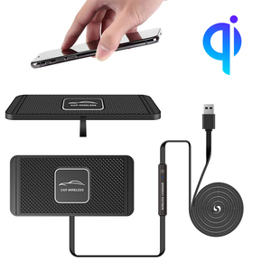 Ultra cienka 10W bezprzewodowa ładowarka samochodowa mata stojak QI bezprzewodowa ładowarka Pad dla Samsung S20 S10 S9 iPhone 11pro XS Max 8 Huawei Xiaomi