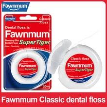 Fawnmum 50m Dental Flosser Oral Hygiene Teeth Cleaning Wax Mint flavored Toothpick Dental Floss Spool Teeth Flosser Tooth Clean