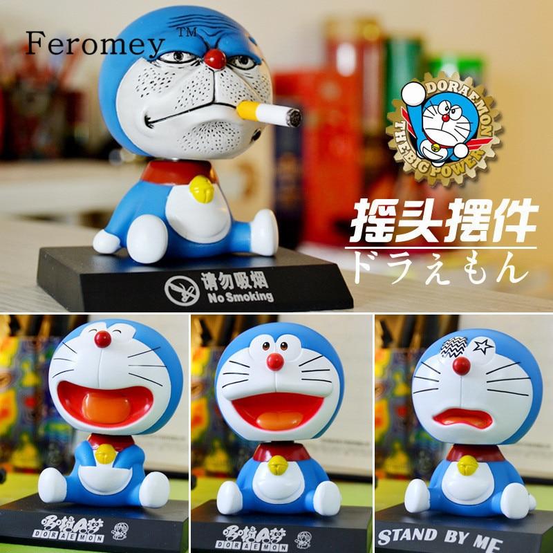 Cute Doraemon Bobble Head Figure Dolls Doraemon Cosplay Shaking Head Action Doll Car Deco Birthday Gift