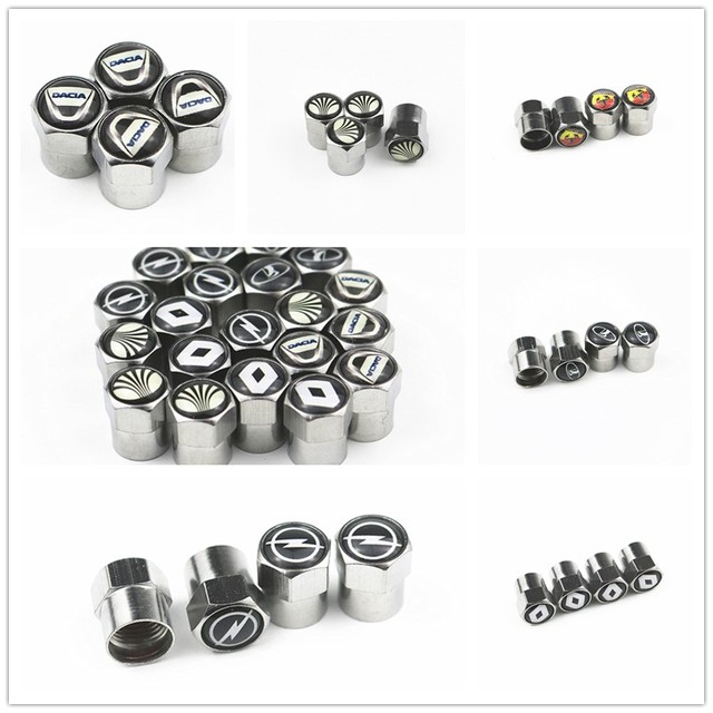 New Car Wheel Tires Valves caps For Volkswagen VW GOLF POLO TIGUAN TOYOTA Hyundai Chevrolet Saab FORD BMW AUDI STICKERS 2