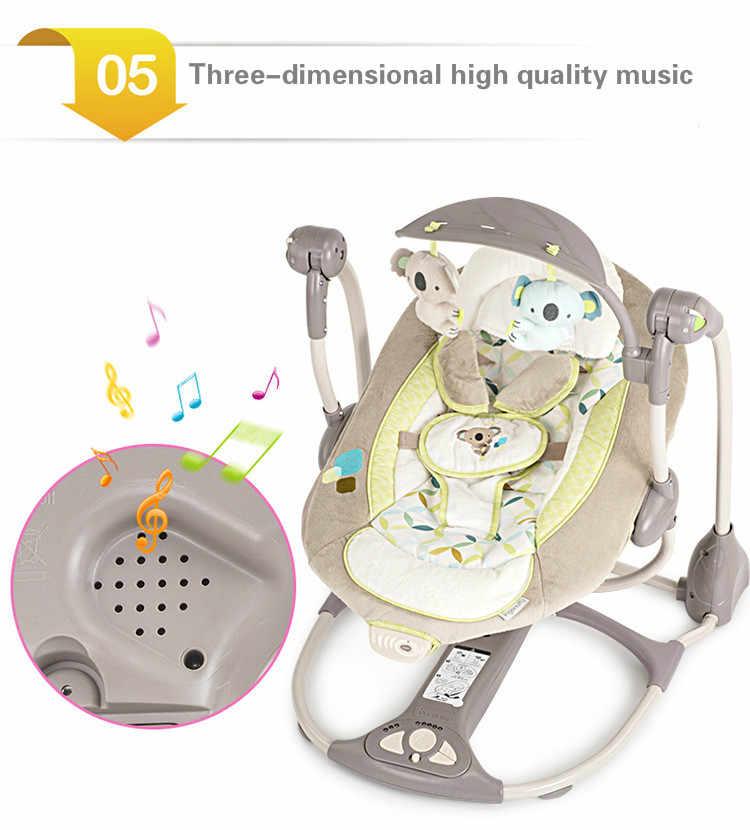 ทารกแรกเกิดของขวัญ Multi-Function ไฟฟ้า Swing เก้าอี้เด็กทารกโยกเก้าอี้ Comfort BB Cradle พับ Baby Rocker Swing 0-3