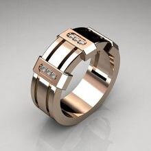 Huitan – bague géométrique Punk pour hommes, anneau Gadget lourd en forme de carré, accessoires de mode pour garçons Cool