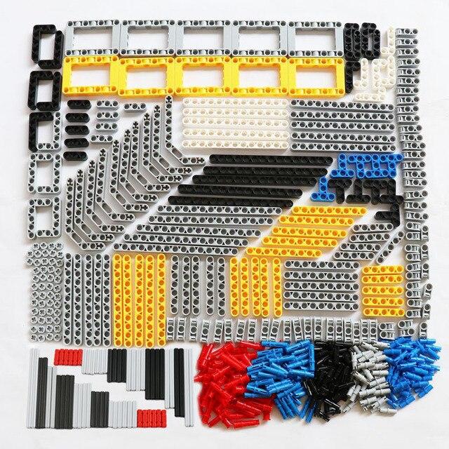 540PCS 대량 빌딩 블록 벽돌 MOC 장난감 기술 Liftarm 빔 액슬 핀 커넥터 교체 부품 레고 기술과 호환 가능