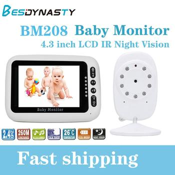 BM208 Baby Monitor 4.3 inch TF LCD IR Night Vision Wireless Video Color Baby Nanny Security Camera Monitoring baby room