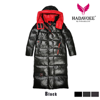 HADAVOE2019 Hot Coat Jacket Winter Women's Hooded Warm Parkas Hight Quality Female New Winter Collection Fashionable warm coat