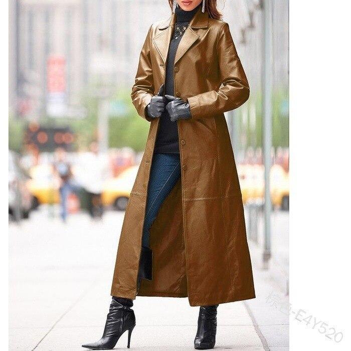 Купить 2021 женское пальто из искусственной кожи с воротником стойкой