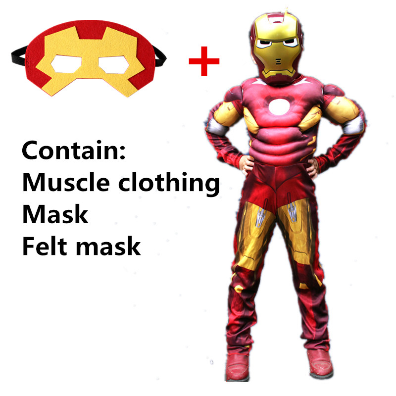 Cosplay costume boy girl muscle superhero costume captain superman steel jumpsuit kids play clothes children