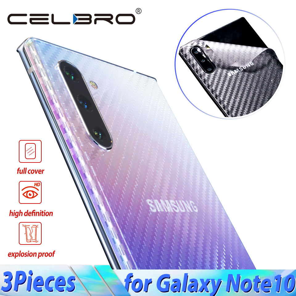 Carbon Fiber Back Film For Samsung Galaxy Note 10 Plus Screen Protector For Samsung Galaxy Note 10 Pro 10+ Not Tempered Glass