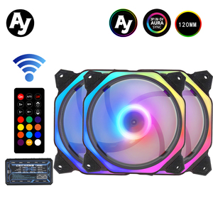Ay AM1 Cooler PC Case Fan 120mm Rgb Fan Adjust Speed Aura Sync Mute Colorful IR Cooler Master Rgb Cooling Computer Fans()