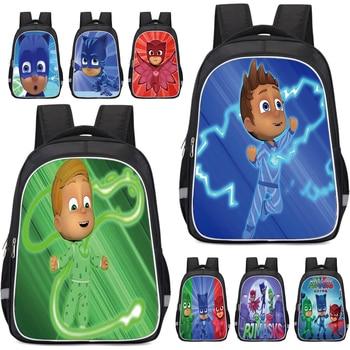 PJ Masks School Backpack Cartoon Bag Thick Breathable Large Capacity Pj Mask Student Backpacks Children Birthday Gifts 2S06