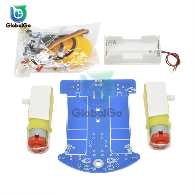 D2 1 DIY Kit Intelligent Tracking Line Smart Car Kit TT Motor Electronic DIY Kit Smart Patrol Automobile Parts For Baby