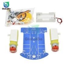 D2 1 DIY キットインテリジェント追尾ラインスマートカーキット Tt モーター電子 DIY キットスマートパトロール自動車部品のための