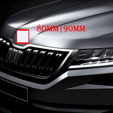 80mm 90m Car Styling Middle Front Grille Rear Trunk Emblem Replacement Logo Sticker for Skoda Octavia Superb Fabia Rapid Kodiaq black silver 90mm and 80mm hood grill grille tail emblem badge sticker for skoda rs rapid octavia superb fabia
