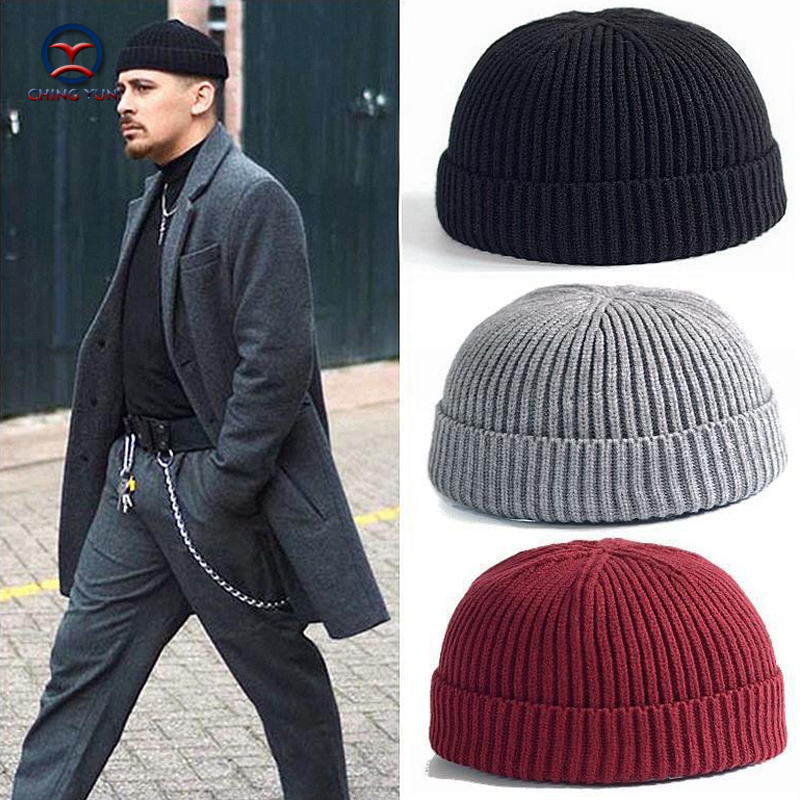CHINGYUN 2019 New Hat Street Men And Women Fashion Knitted Wool Cap Thick Villus Winter Warm Hit Outdoor Watermelon Cap Wool