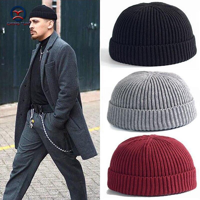 CHINGYUN 2019 New Hat Street Men And Women Fashion Knitted Wool Cap Thick Villus Winter Warm Hit Outdoor Watermelon Cap Wool