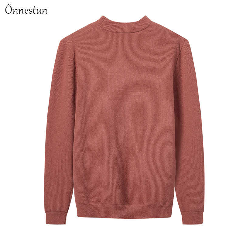 Onnestun プルオーバーセーター男性秋冬新高品質スリム暖かいセーター男性カジュアルトップスソフト弾性男セーター