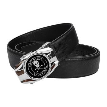 Men's Golf Belt Fashion Alloy Buckle  Automatic Buckle Leather belt Length 120CM Can Be Cut High Quality Golf Accessories 1