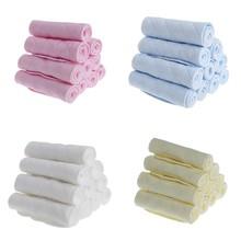 Nouveau 10 pièces réutilisable bébé coton mélange couche-culotte nouveau-né doux couche-culotte insérer 3 couches