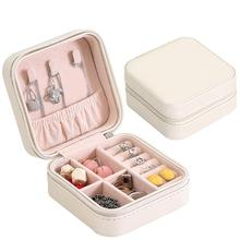 Portable Jewelry Organizer Collection Necklace Ring Earrings Storage Box Case New Durable