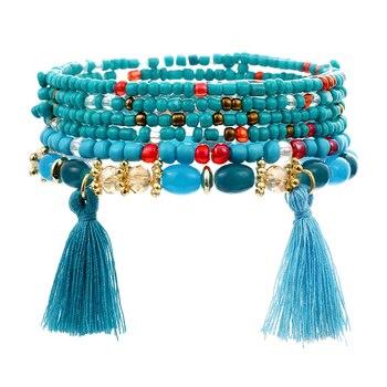 Women's Boho Style Stone Charm Bracelet Bracelets Jewelry New Arrivals Women Jewelry Metal Color: SL1519