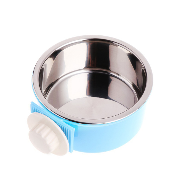 Cage Bowl Hanging Dogs Dog Feeder Pet Feeding Bowl 3 Colors Separable Hamsters Puppy Water Food