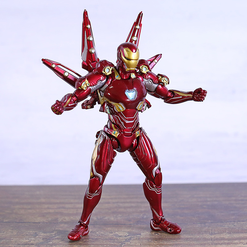 SHF Avengers Endgame Iron Man MK50 Nano Weapon Set Action Figure PVC Figurine Model Toy