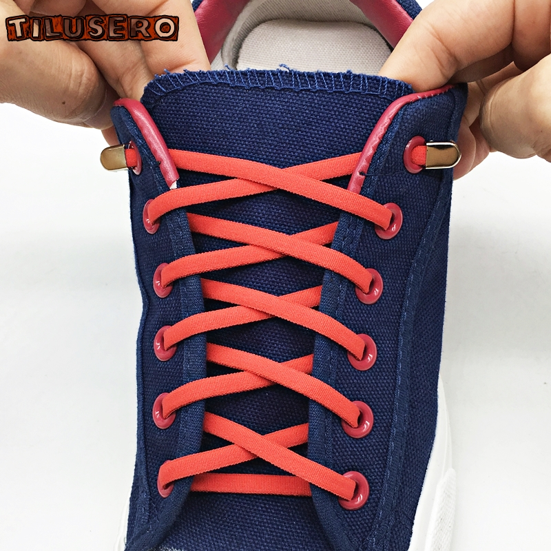 1 Pair Elastic Shoelaces No Tie Shoe Laces Outdoor Leisure Sneakers Quick Flat Shoe Lace Kids And Adult Unisex Lazy Laces Z068