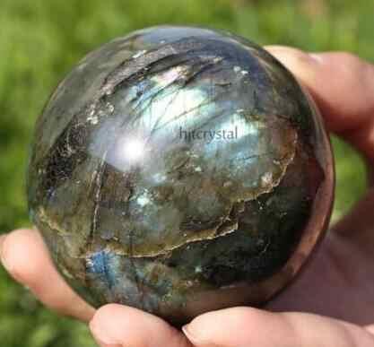 טבעי ברדוריט קשת קוורץ קריסטל כדור כדור ריפוי אבני חן 40-100mm