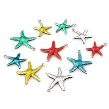 20 pezzi in acciaio inossidabile piccola stella pesce stella smalto mare conchiglia spiaggia charms bella fai da te ciondolo collana braccialetto creazione di gioielli