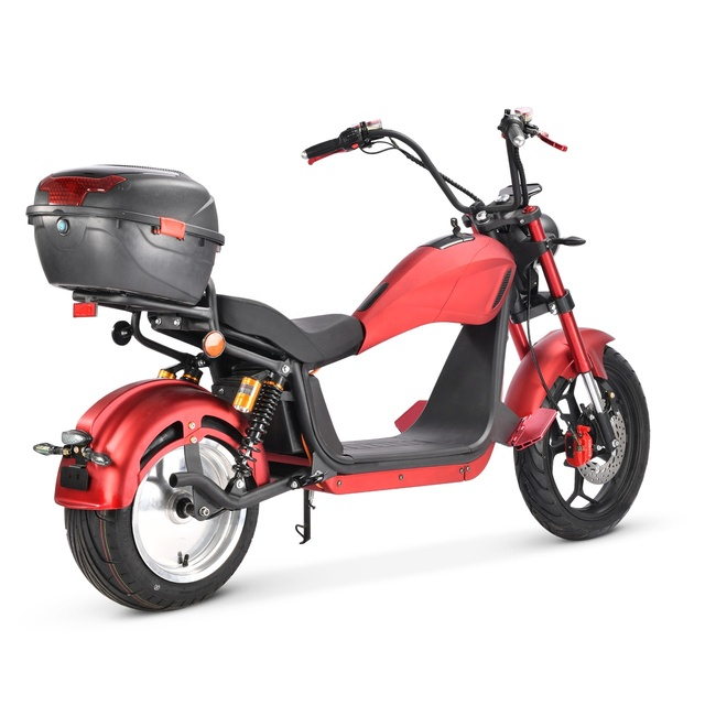 2021 Factory Supply EU Warehouse 2000W 20Ah Hydraulic Shock Absorber Adult Citycoco Electric Motorcycle Scooter 4
