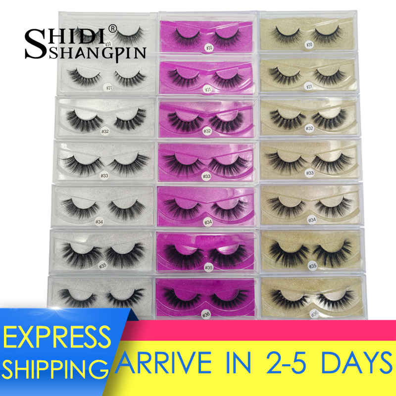 SHIDISHANGPIN 1 Pair 3d Mink Lashes Natural False Eyelashes Lashes Maquillaje Soft Mink Eyelashes Dramatic Eyelashes Faux Cilios