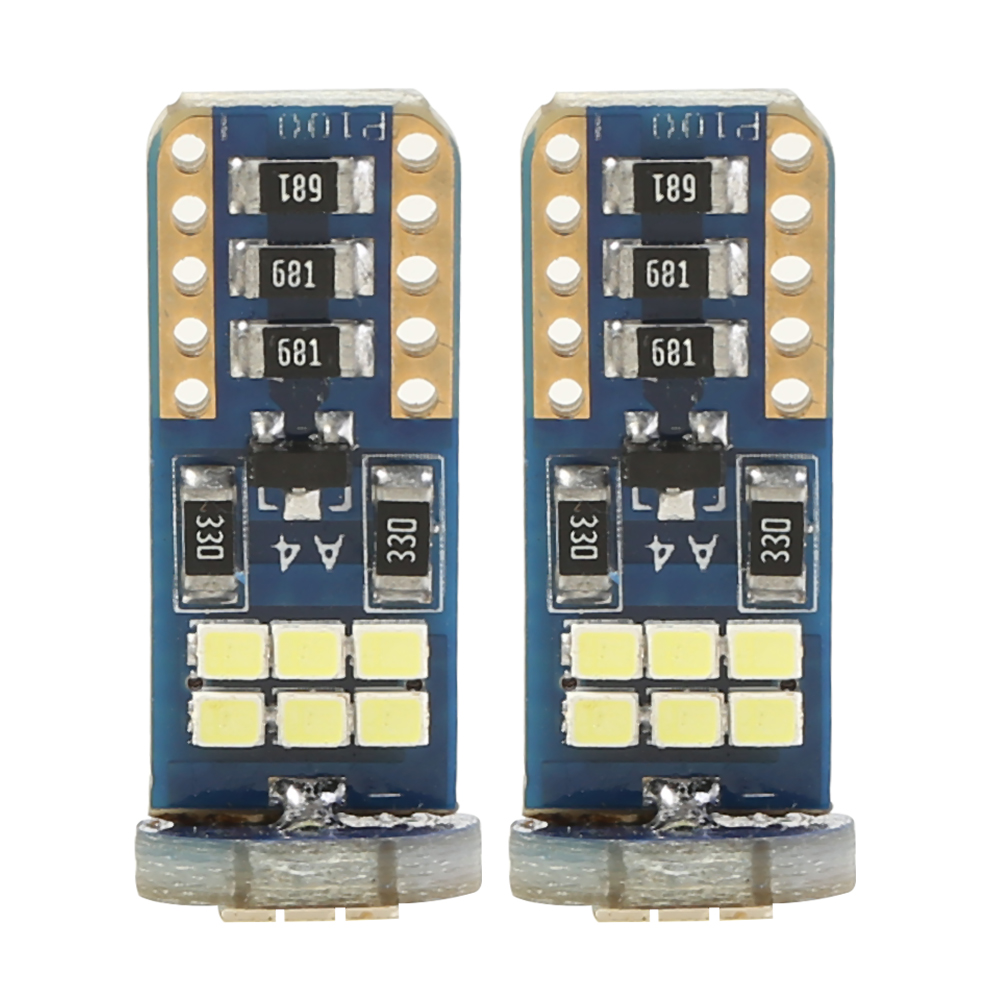 2x Canbus <font><b>T10</b></font> <font><b>18</b></font> <font><b>SMD</b></font> LED Bulbs Wedge Car Dome Reading Clearance Light Bulbs Auto Led Interior Light Trunk Lamp image