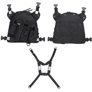 Image 3 - Abbree Chest Harness Front Pack Pouch Carry Case for Yaesu TYT Wouxun Baofeng BF 888S UV 5R UV 82 UV 9R Plus Walkie Talkie Radio