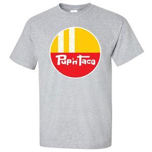 TSDFC Pup 'N' Taco T-Shirt - Defunct Fast Food Chain - Gray Version unisex men women t shirt(China)