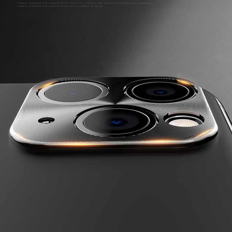 メタリック携帯電話レンズ保護カバー 11 プロマックスカメラレンズプロテクターバンパーリングケーススマートフォンバックレンテ