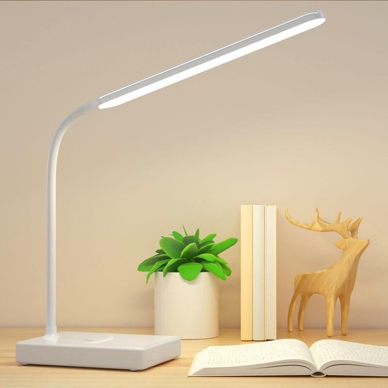 Настольная лампа Настольные лампы реагирующие на прикосновения для гостиной гусиная шея Настольная Складная диммируемая лампа для защиты глаз светодиодный светильник ZZD0008 5v|Настольные лампы|   | АлиЭкспресс