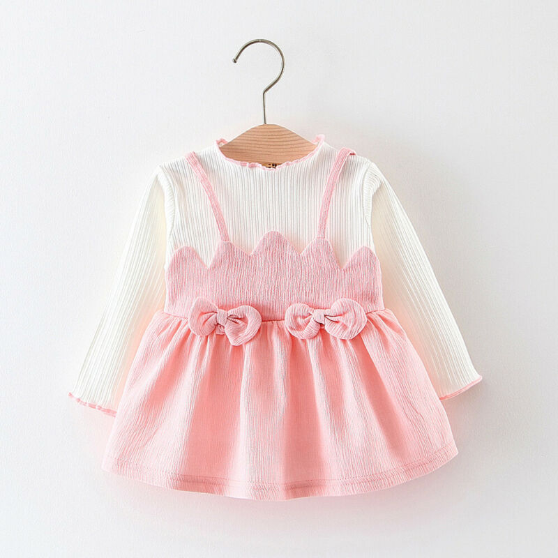 От 3 месяцев до 3 лет платье-пачка с длинными рукавами для маленьких девочек, Принцесса платья детская одежда для девочек, нарядное платье на ...