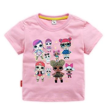 Camiseta LOL Surprise de verano para bebé, camiseta de dibujos animados, ropa para chico, Camiseta de algodón de manga corta de Chase Rocky, ropa de 2 a 11 años